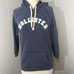 3/$20 Hollister Hoodie Blue/White Size Med